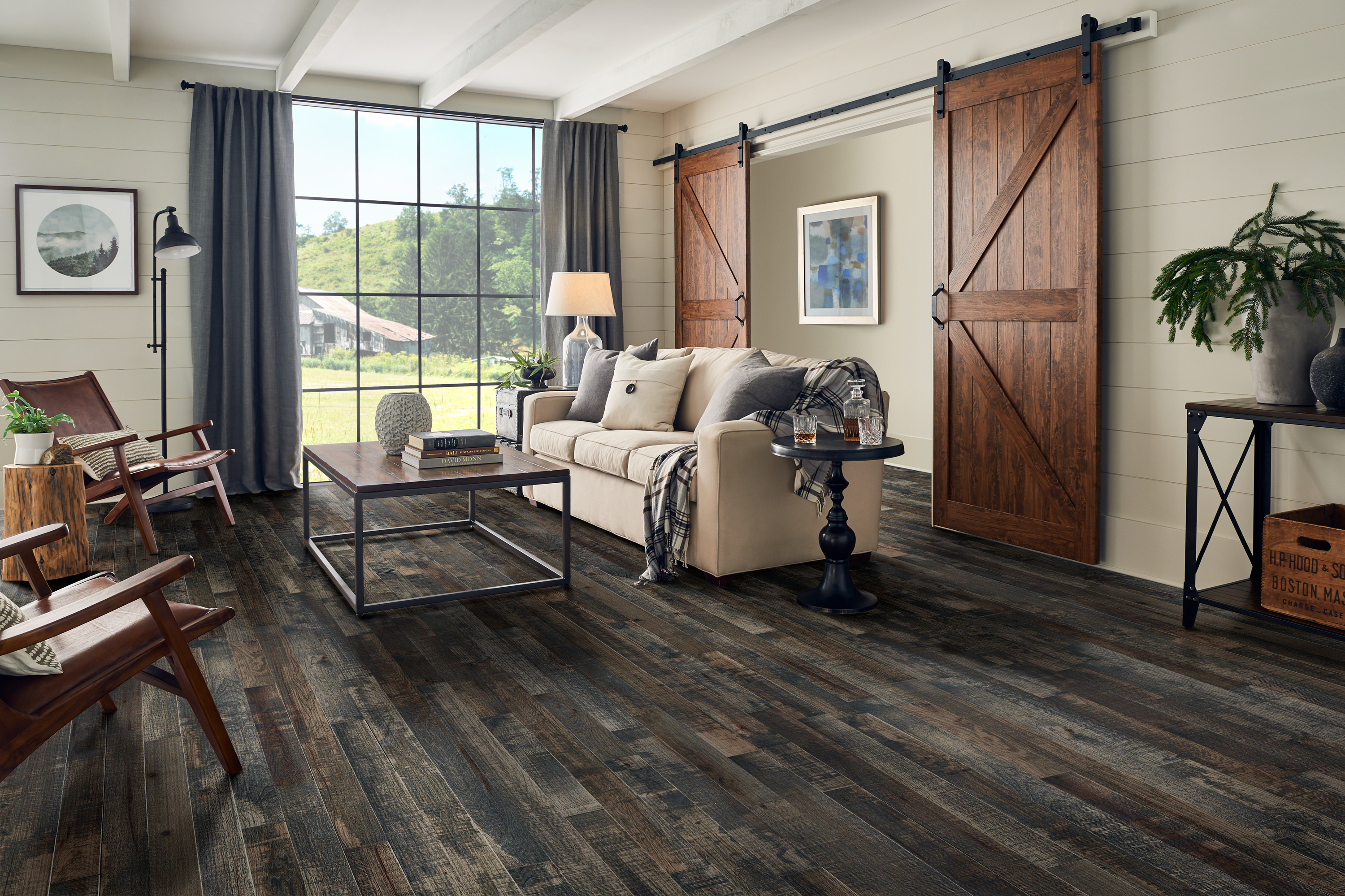 Barnwood Living Wyoming Solid Hardwood SHMB39L46X